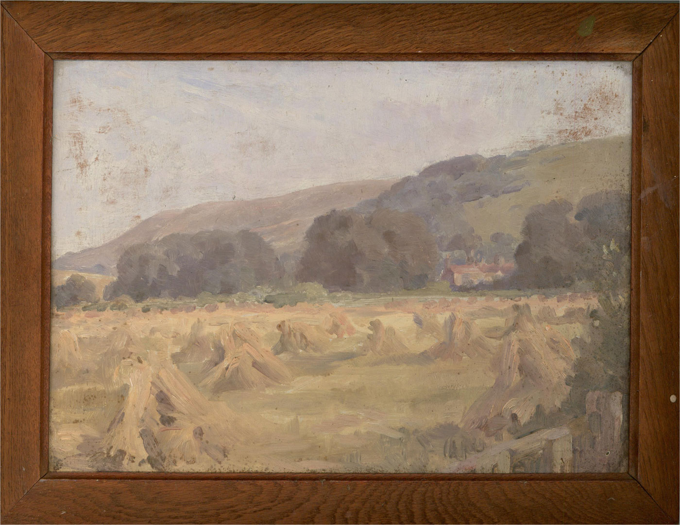 Mid 20th Century Oil - Stooks In The Field