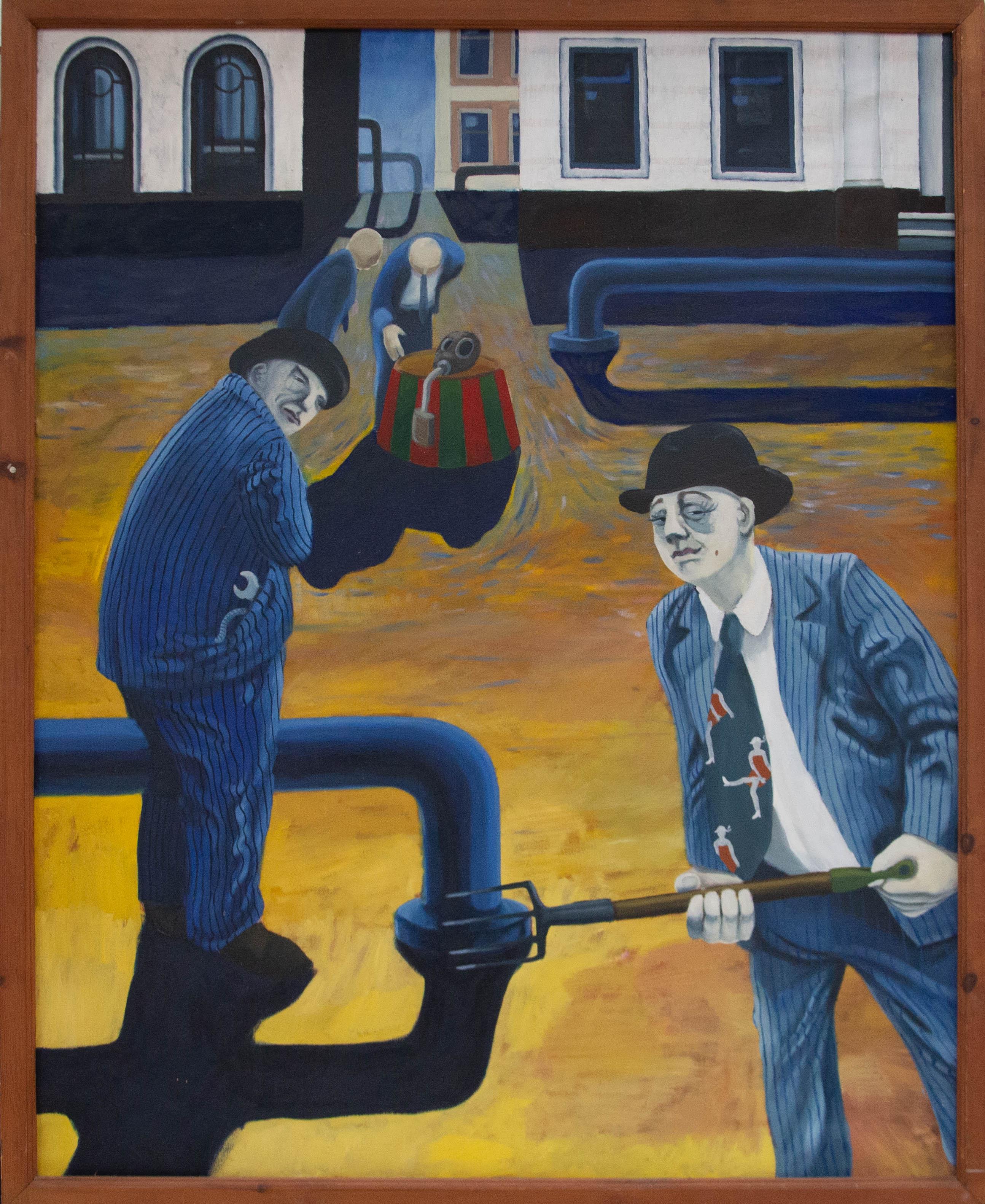 Martin Vernon (b.1966) - Contemporary Oil, The Gas Men