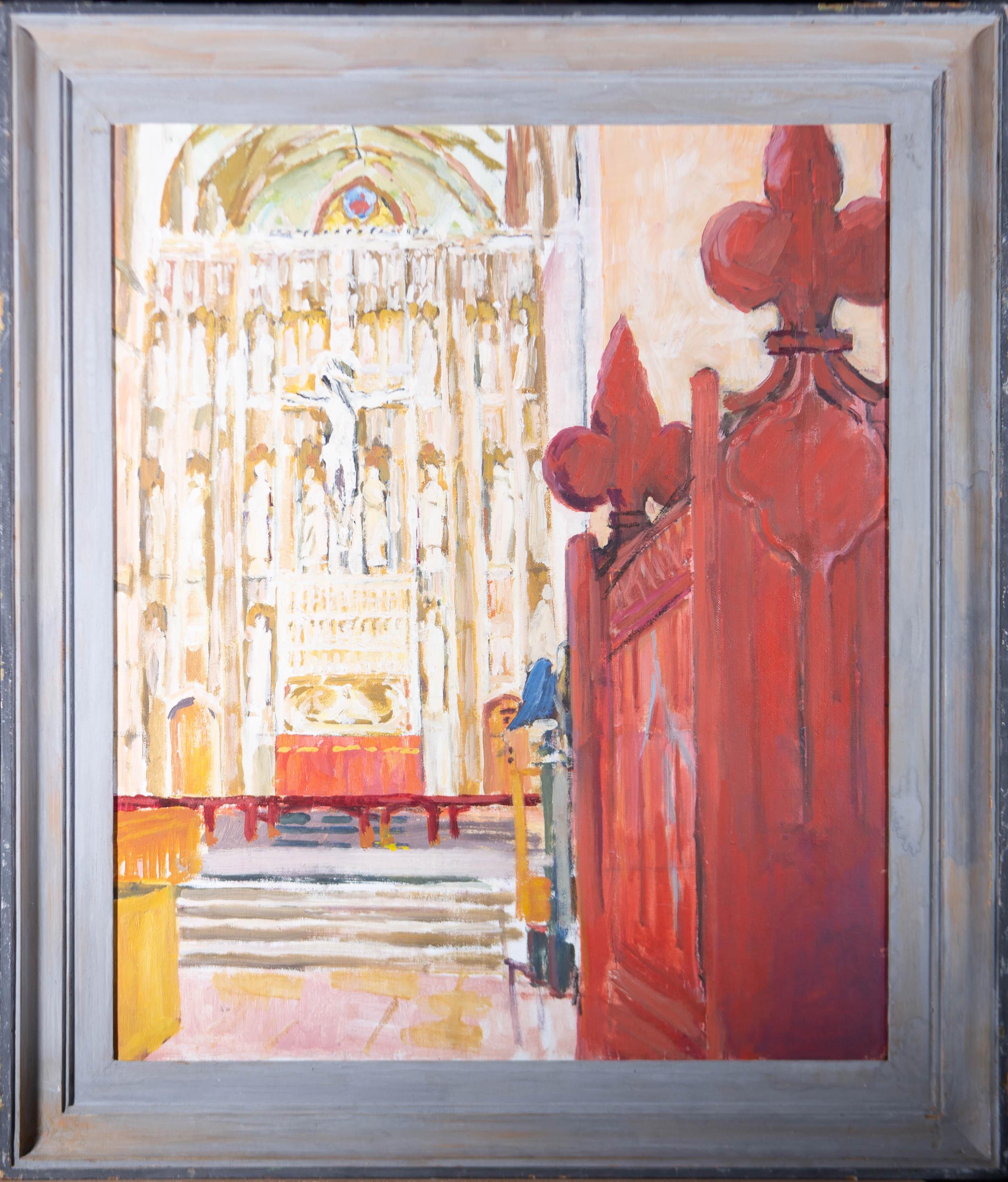 Pamela Chard (1926-2003) - Framed 20th Century Oil, The Altar