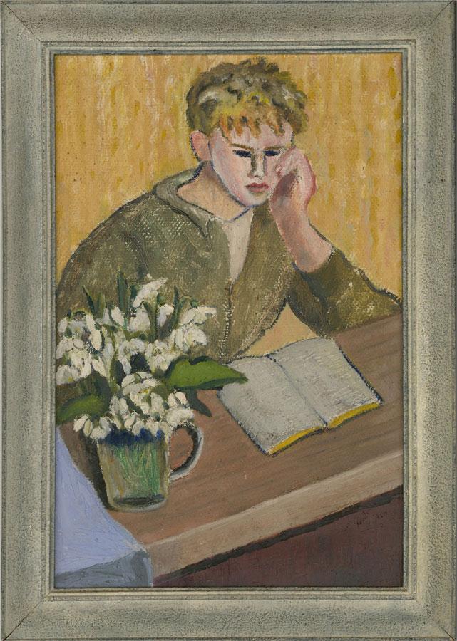 Pamela Chard (1926-2003) - 20th Century Oil, Studying