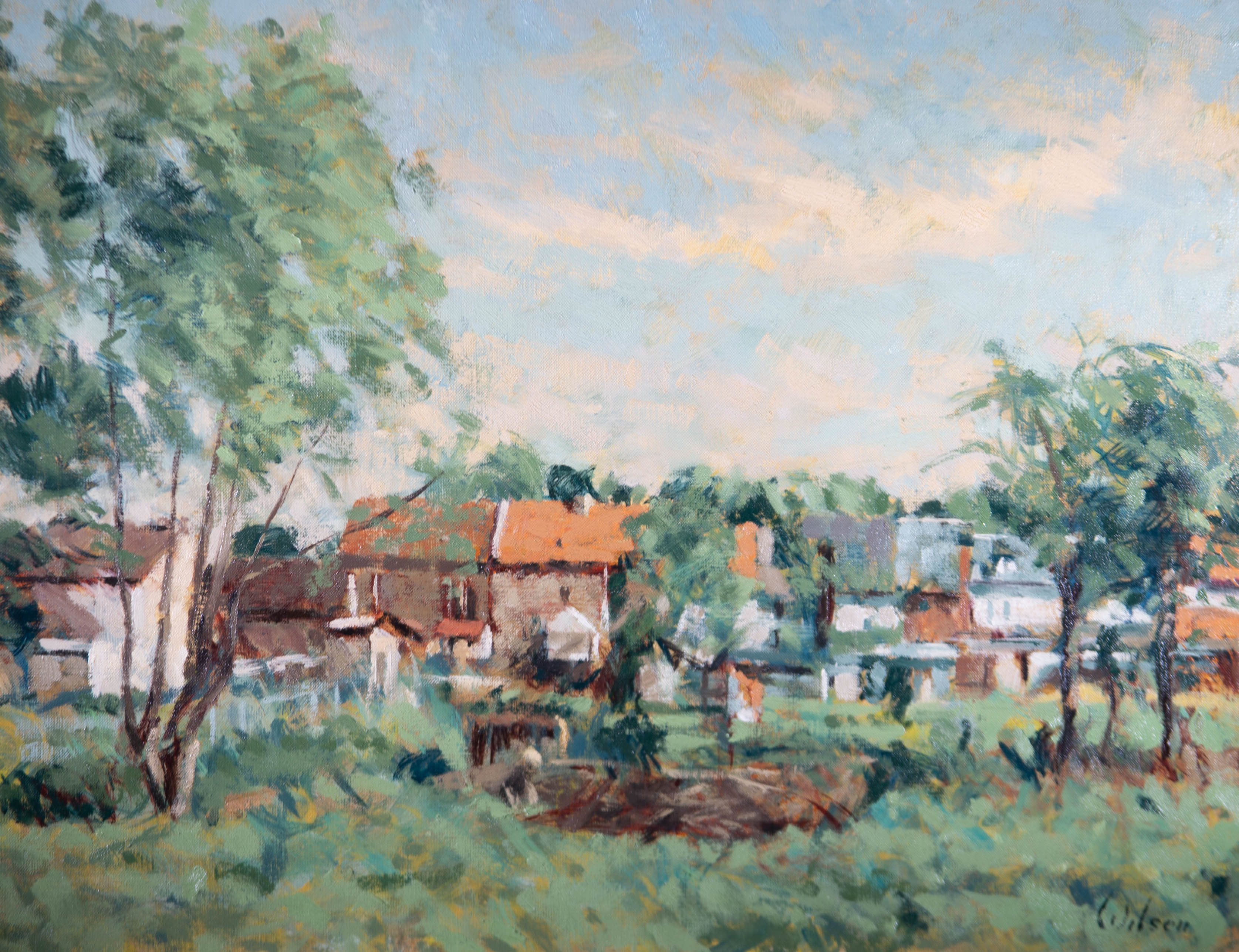 David Wilson (1919-2013) - Contemporary Oil, Sunny Day In St Albans