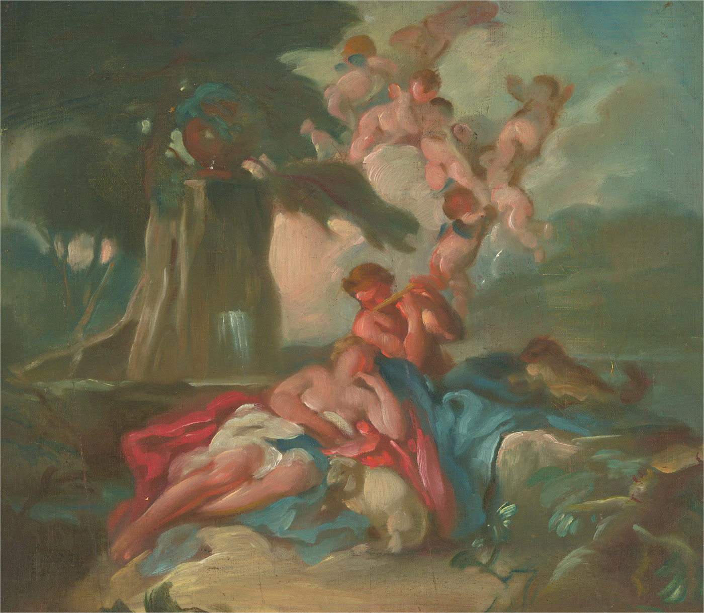Giorgio Matteo Aicardi (1891-1985) - Early 20th Century Oil, Fresco Study