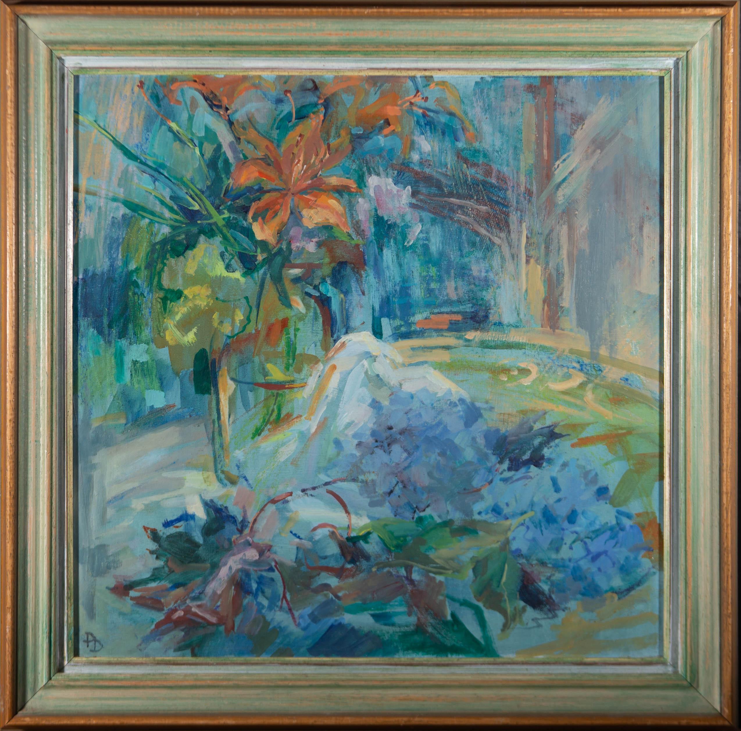 Pamela Dukes - Contemporary Oil, Still Life, Vase of Flowers