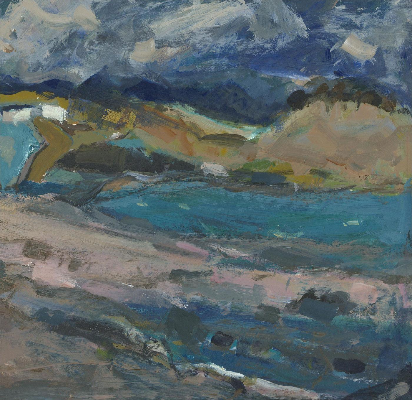 Sheila Macnab Macmillan (1928-2018) - 2018 Acrylic, Ettrick Bay, Scotland