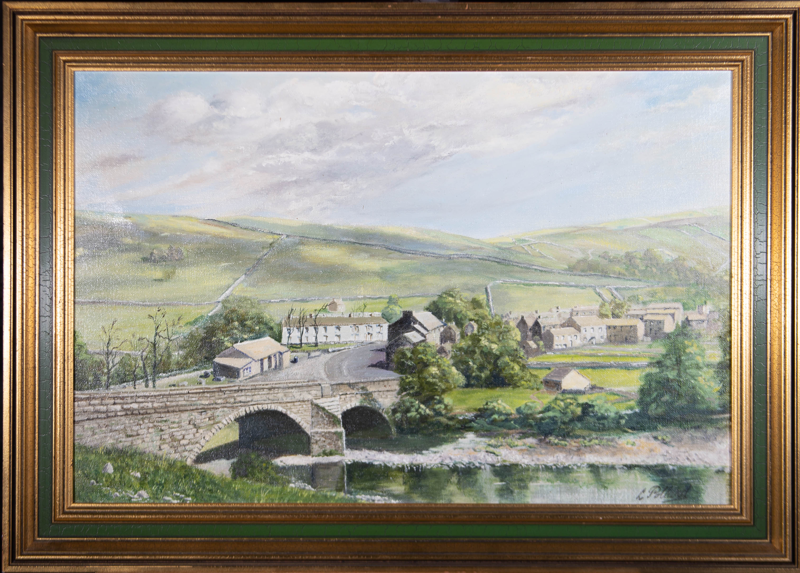 L. Pollard - Large Mid 20th Century Oil, View of Kettlewell, North Yorkshire