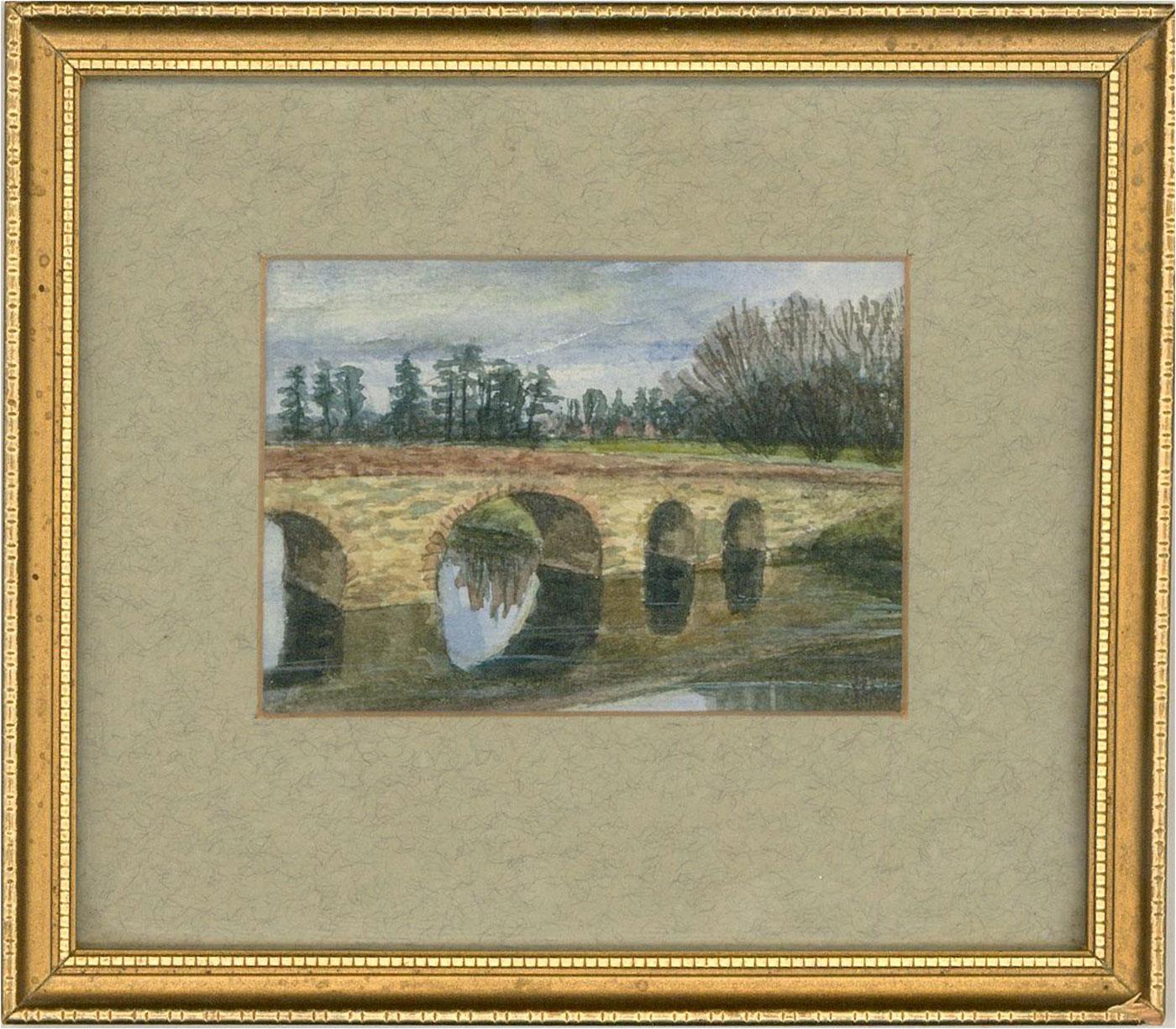 Ronald Pardoe - 20th Century Watercolour, Pershore Bridge