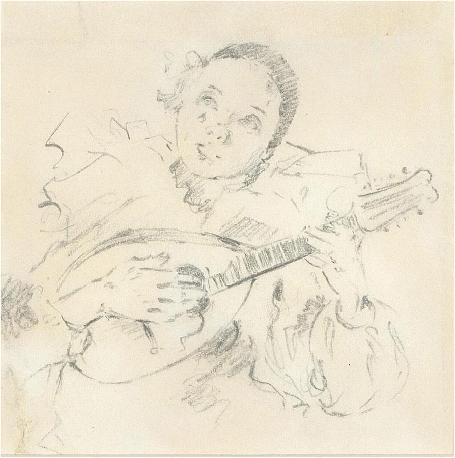 Franco Matania (1922-2006) - Mid 20th Century Graphite Drawing, Pierrot