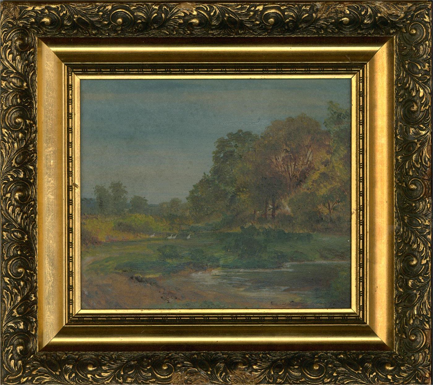 A.E. Norman Haynes - 1919 Oil, A Corner of Esher Common