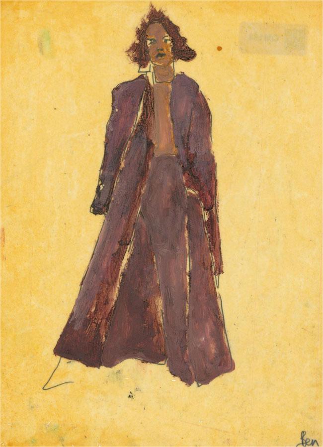 Ben Carrivick - Contemporary Oil, Brown Dress