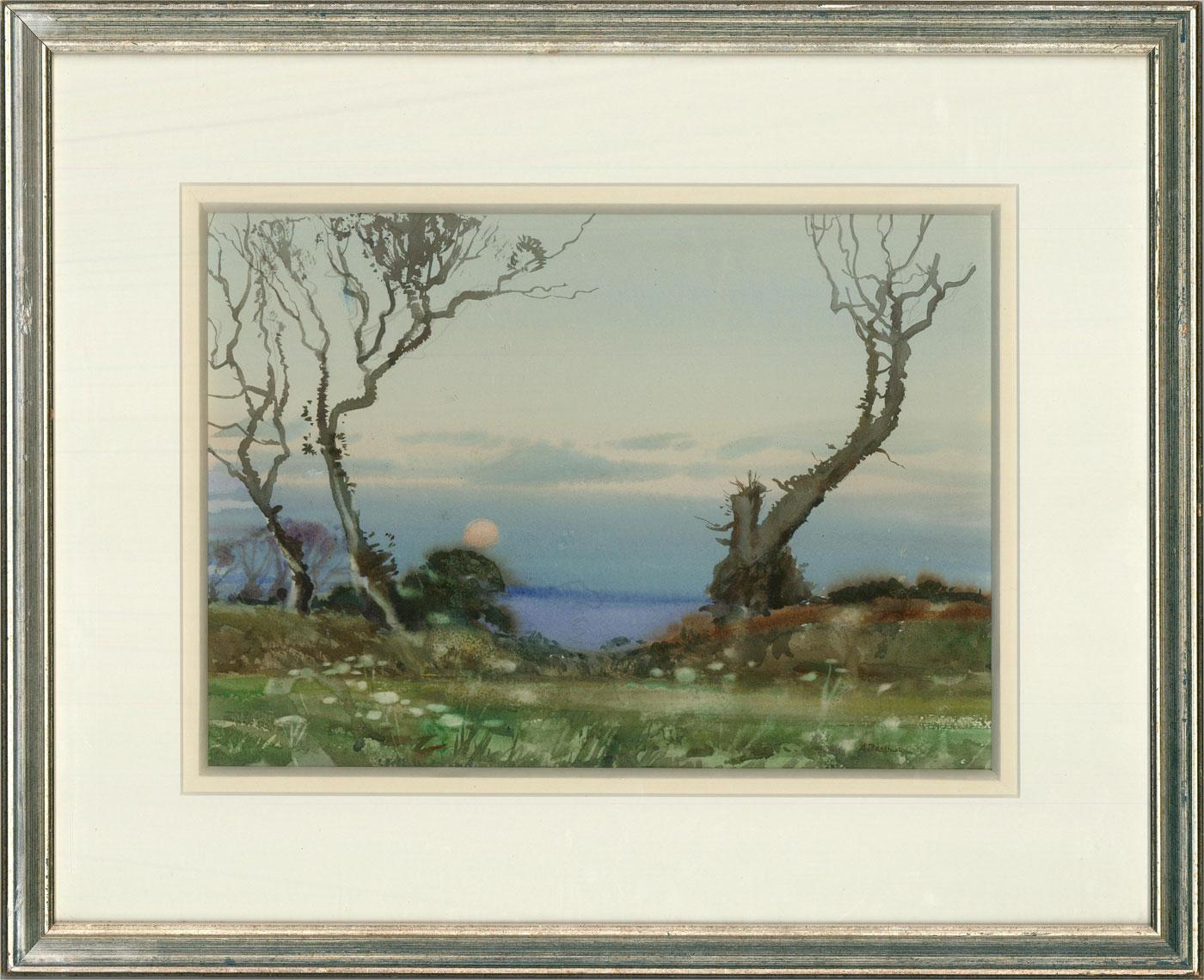 Arthur Royce Bradbury (1892-1977) - Contemporary Watercolour, Coastal Sunset