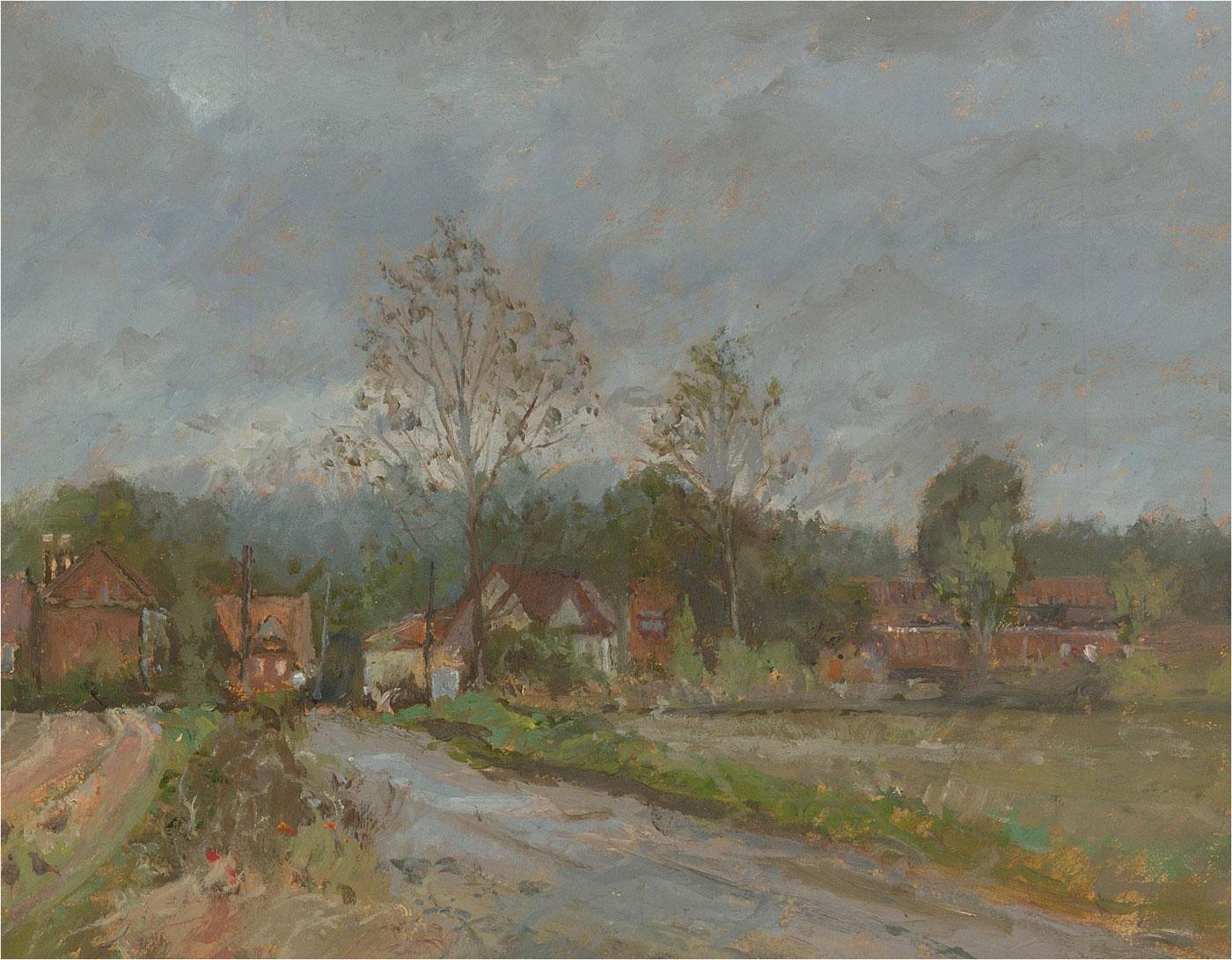 Keith Johnson (1931-2018) - Contemporary Oil, The Rainy Day, Runham Village