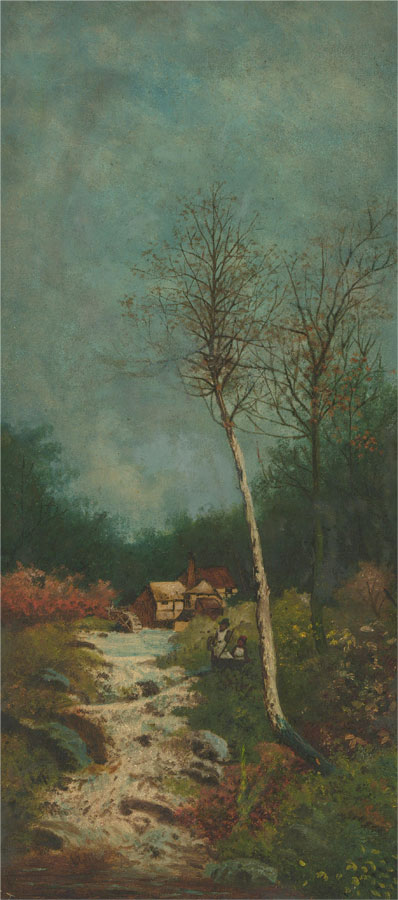 E. Tanner  - Early 20th Century Oil, Watermill Scene