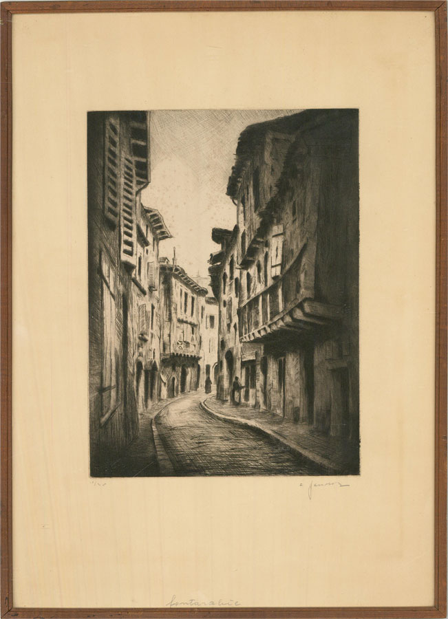 Early 20th Century Etching - Fontarabie