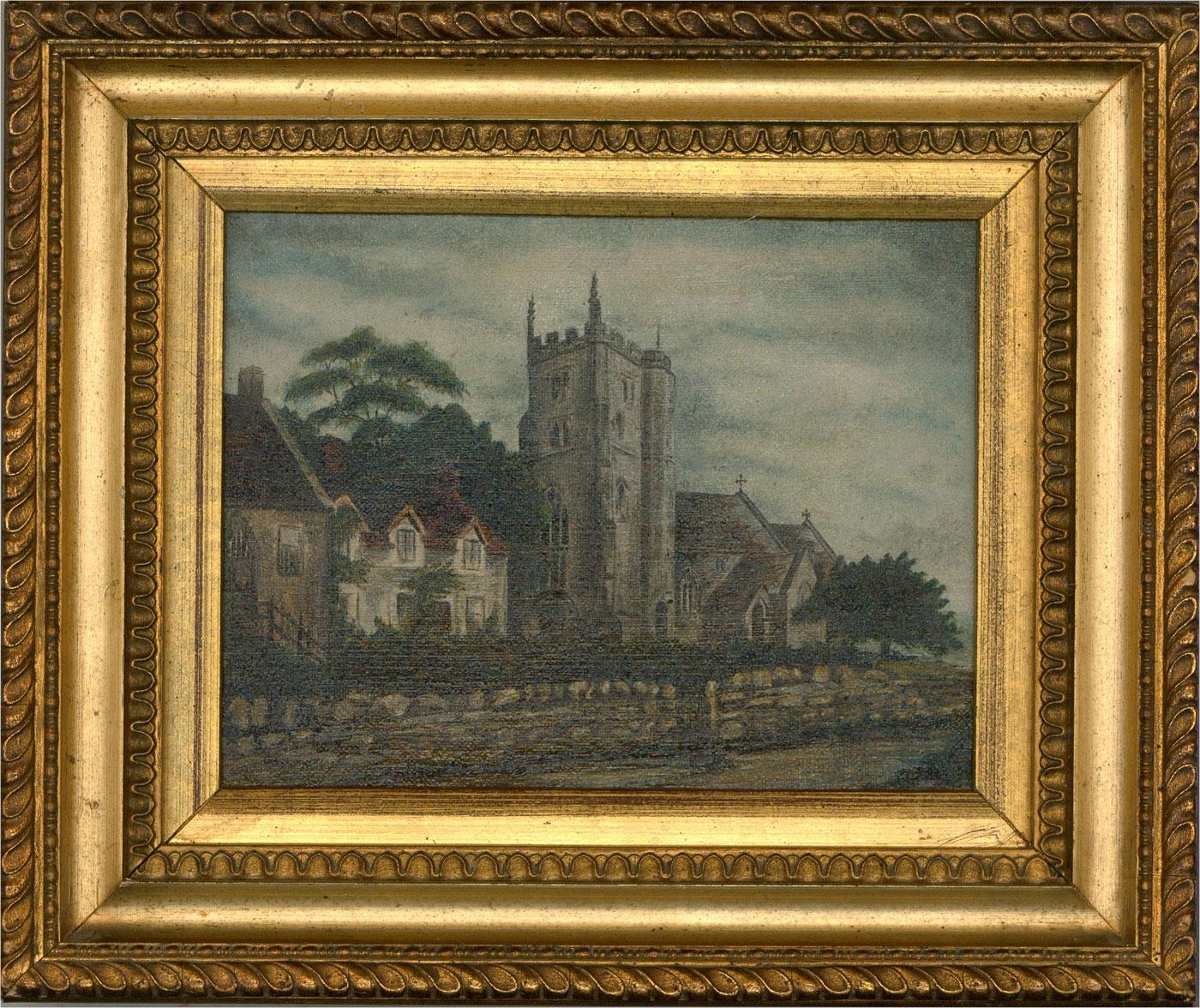 E.H - Mid 20th Century Oil, East Knoyle Church