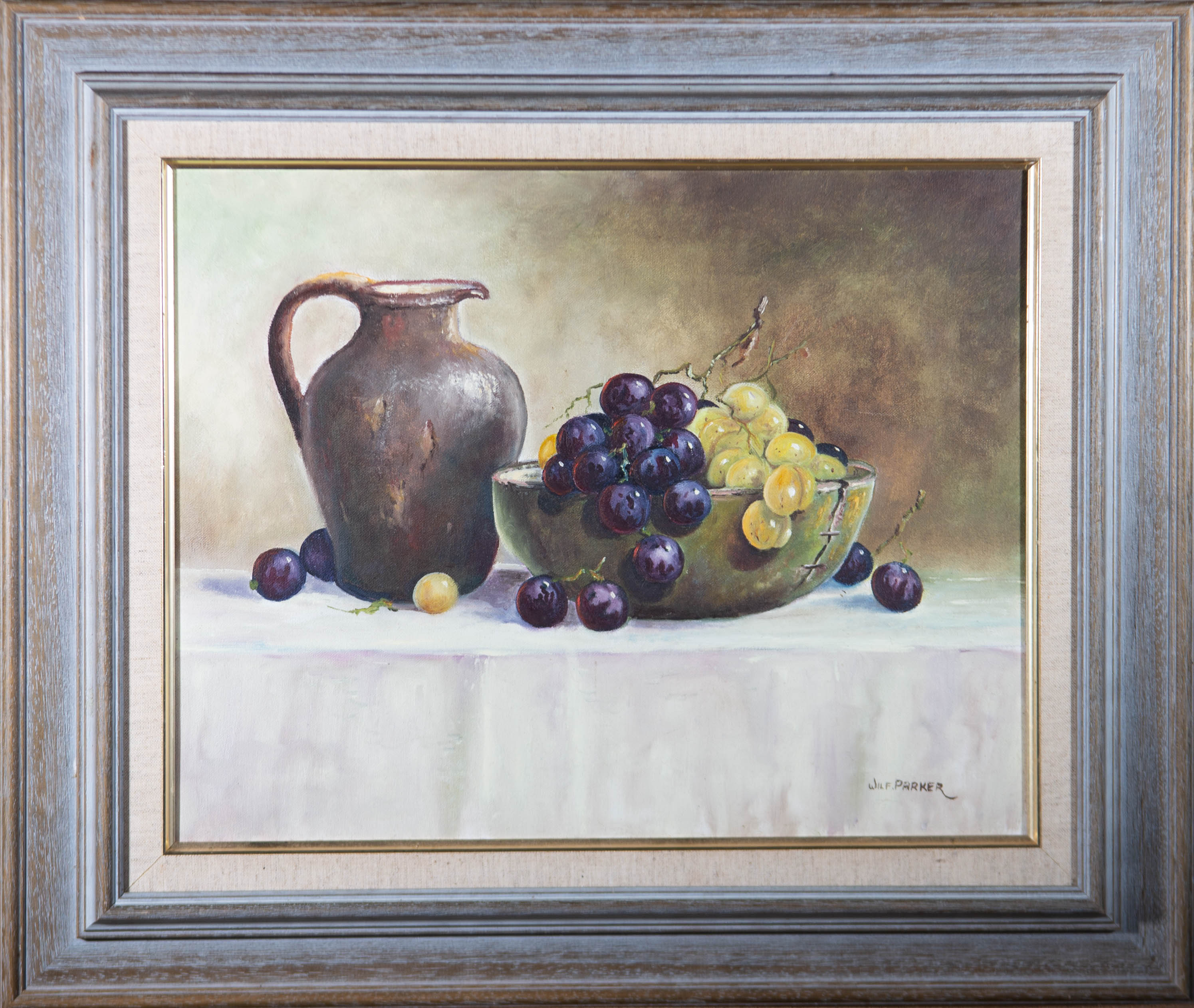Wilf Parker - 20th Century Oil, Still Life with Grapes