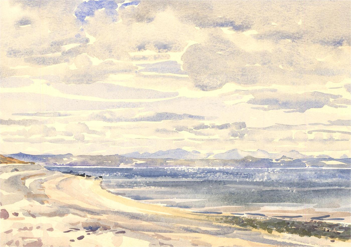 Brian C. Wade - Contemporary Watercolour, Beach