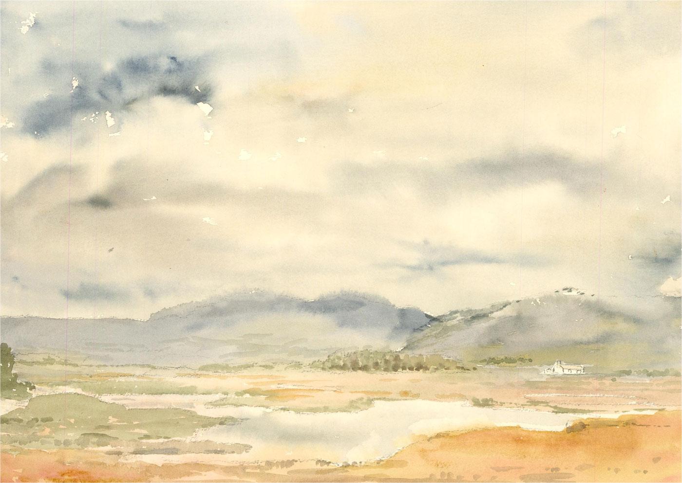 Sylvia E. Churchward-Wade - Contemporary Watercolour, After a Rainy Day