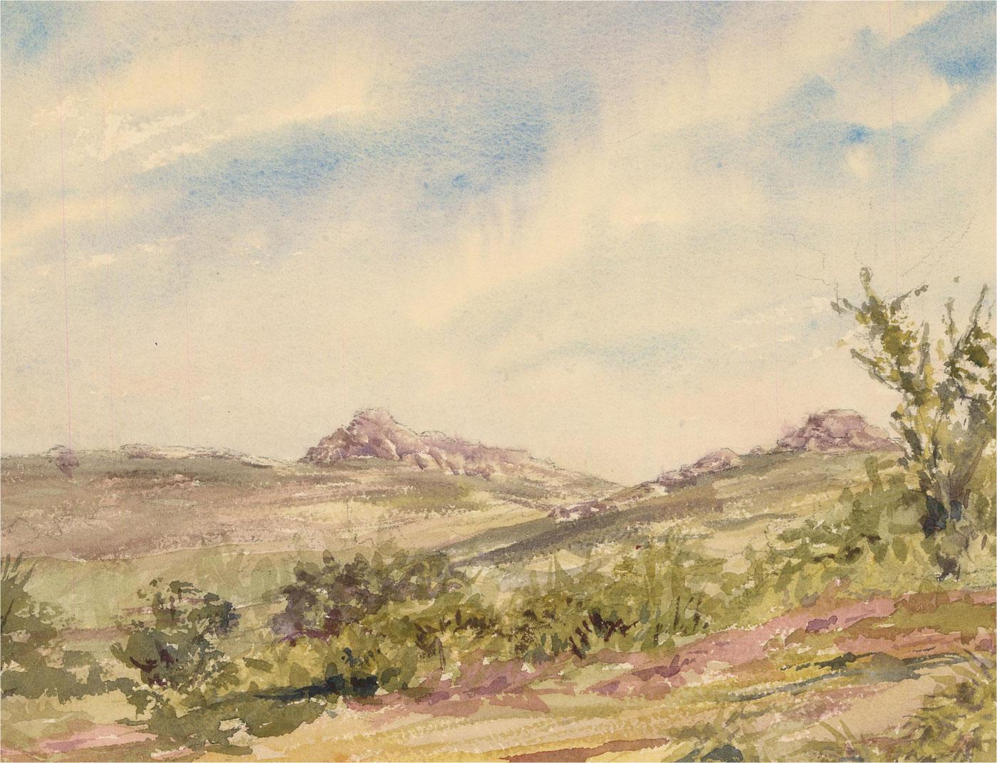 Sylvia E. Churchward-Wade - Contemporary Watercolour, Landscape View IIII