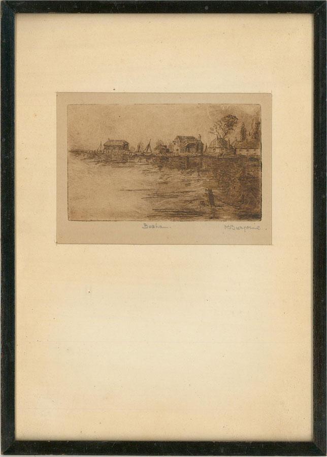 K. Burgoine - A Pair of Early 20th Century Etchings, Arundel and Bosham