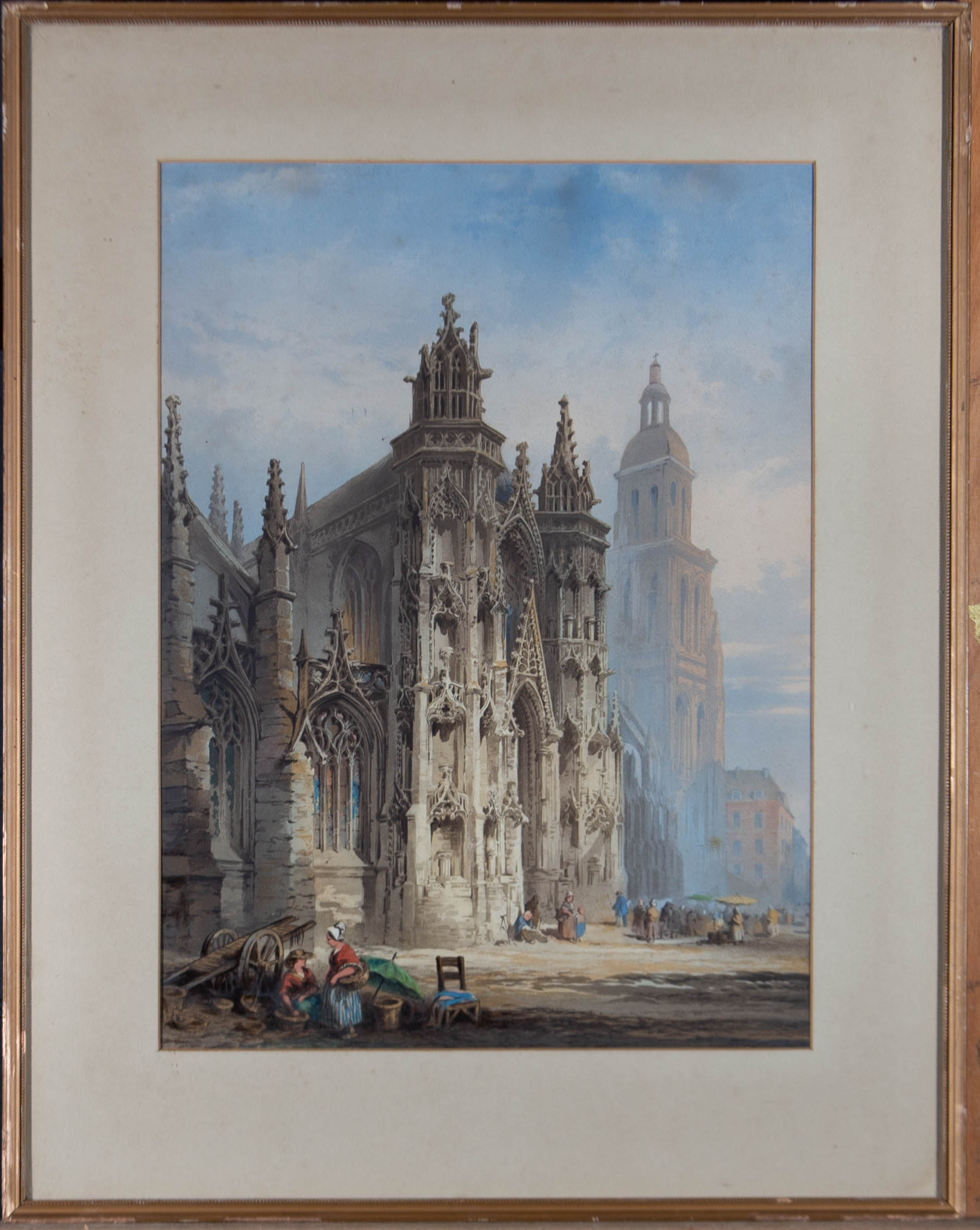 Mid 19th Century Lithograph - Gothic Cathedral