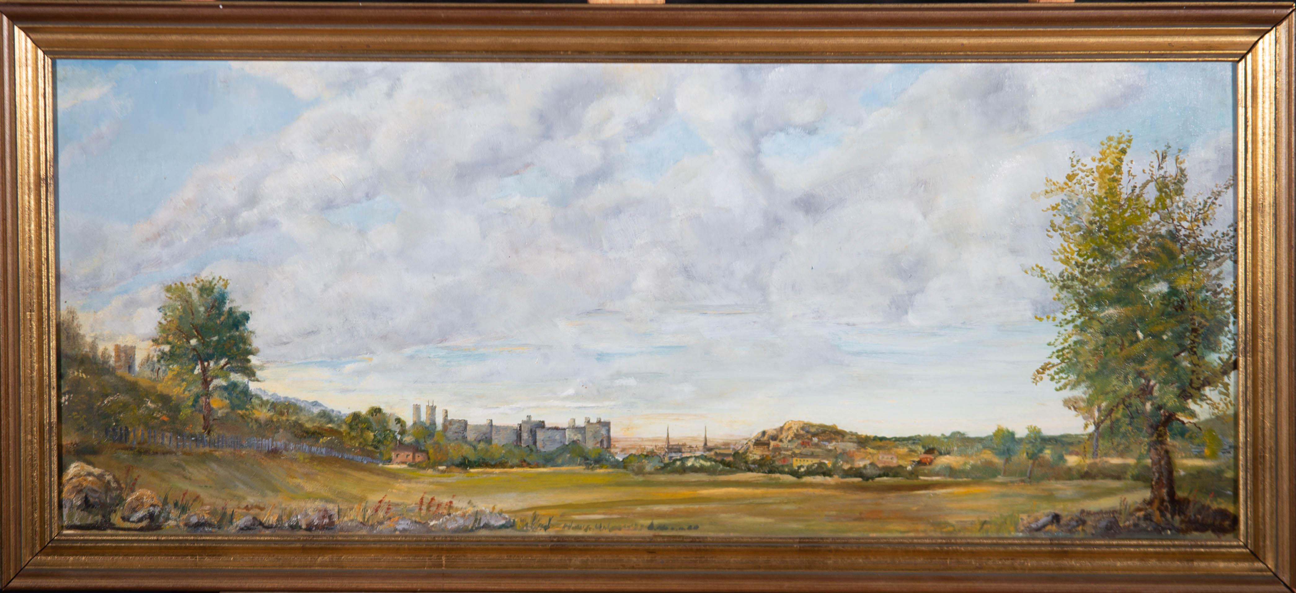 R. Humphreys - 20th Century Oil, Castle in a Landscape