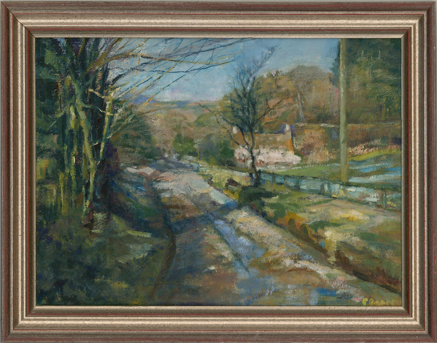 P.C. - Contemporary Oil, Country Lane