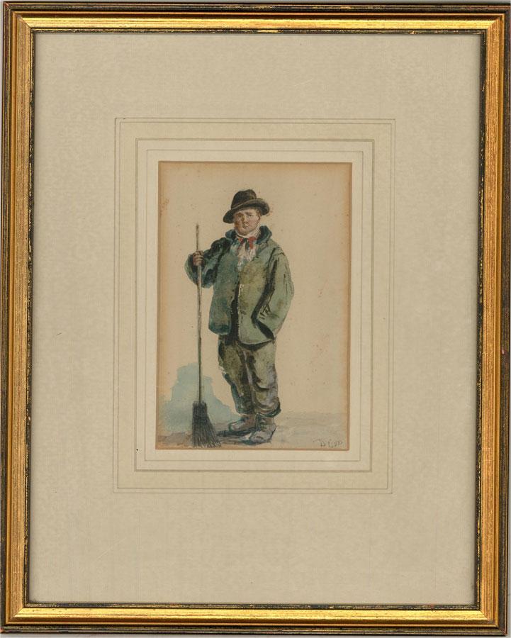 David Cox Jnr. ARWS (1809-1885) - 19th Century Watercolour, Crossing Sweeper