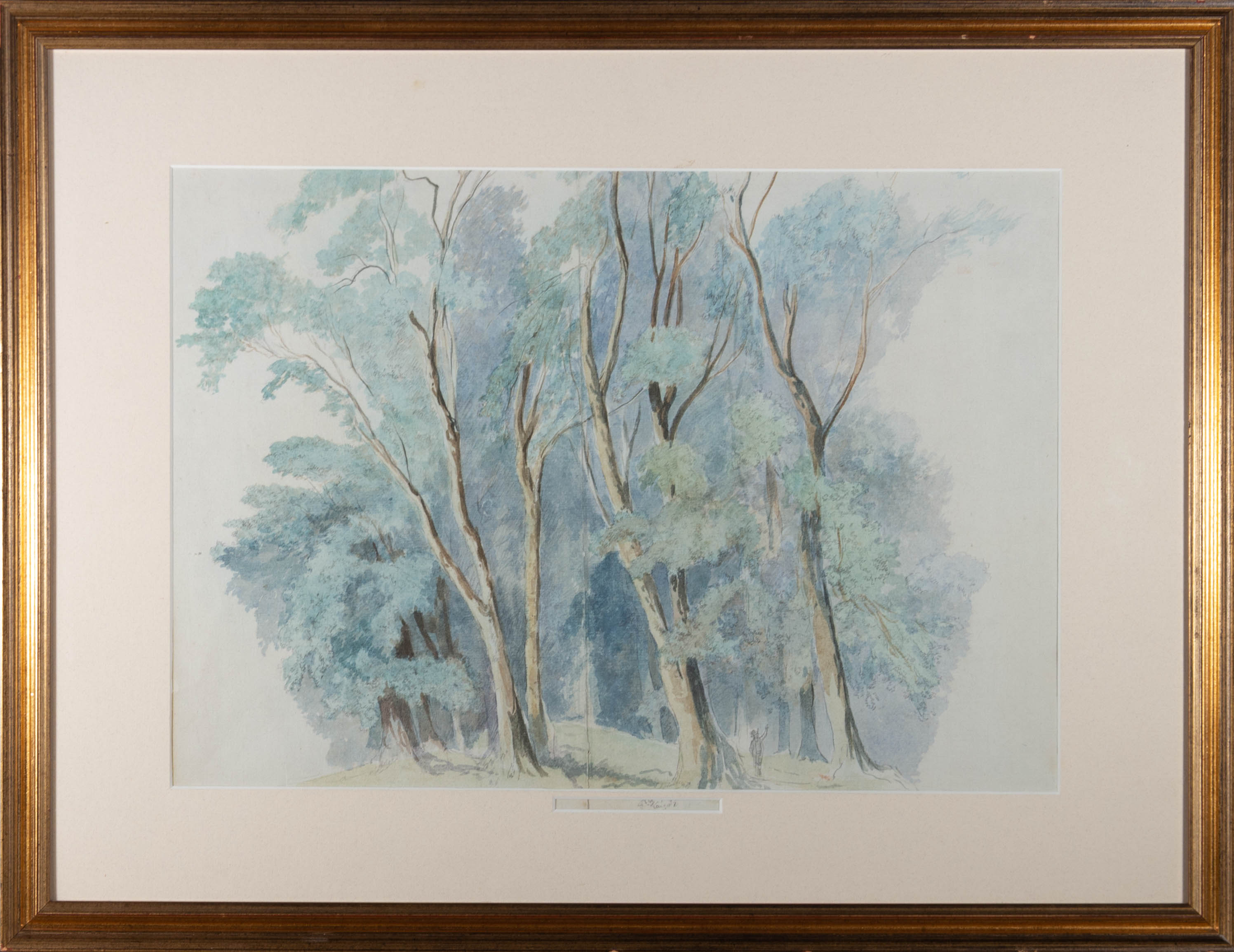 Mid 19th Century Watercolour - Forest Seclusion