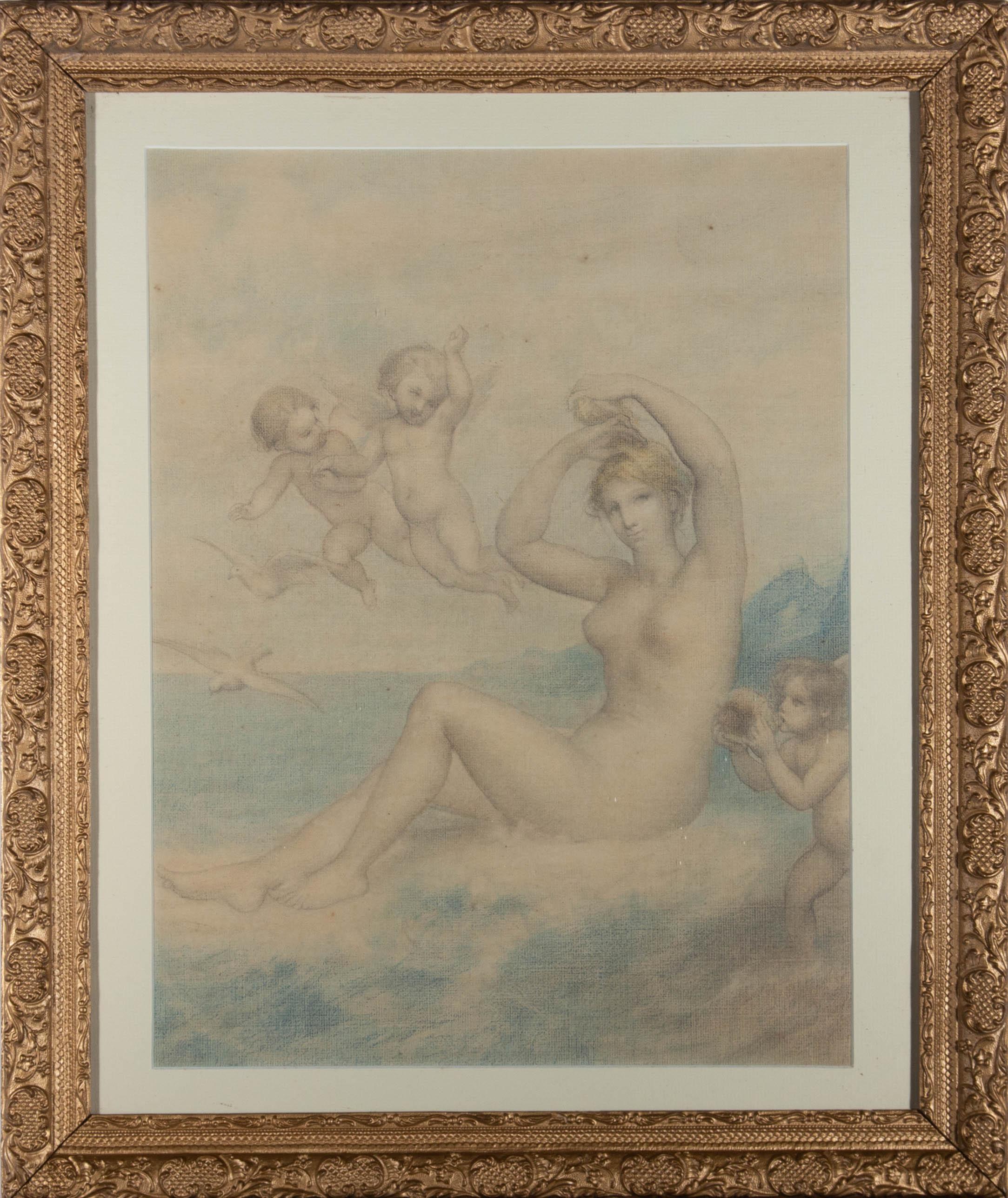 Mid 20th Century Watercolour - The Triumph Of Venus