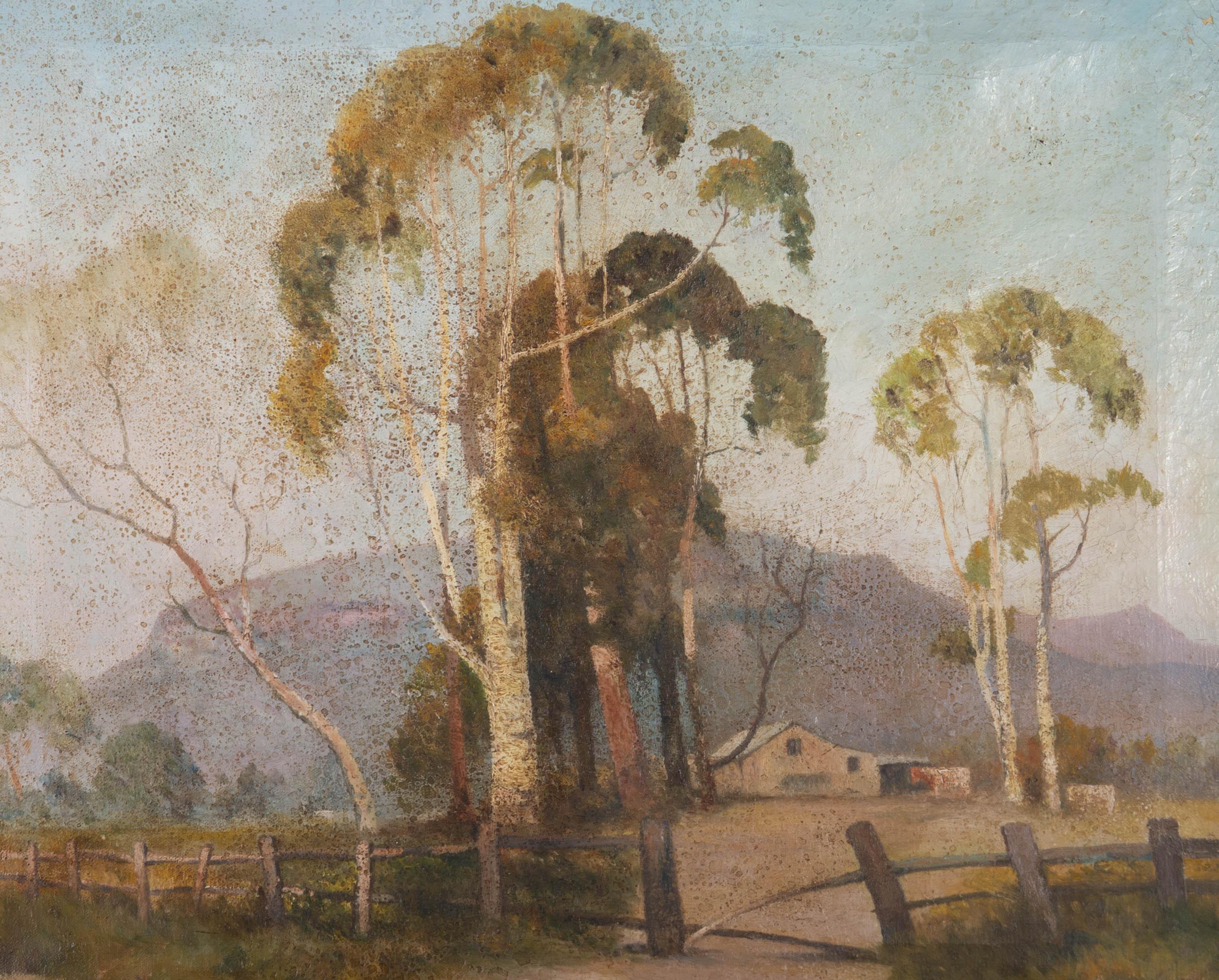 For Restoration - Mid 20th Century Oil - Rural Farm
