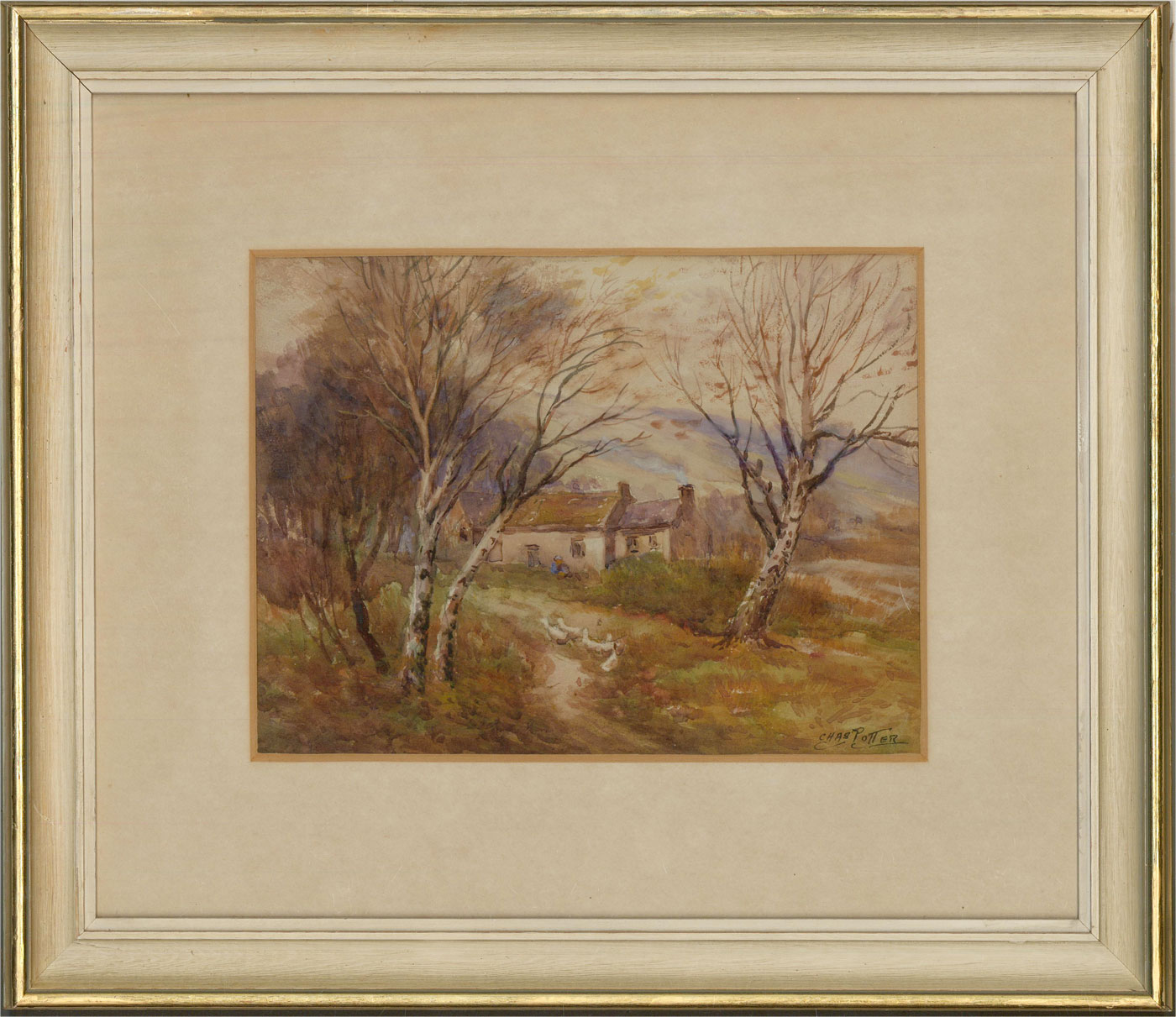 Charles Potter - Early 20th Century Watercolour, Country Cottage