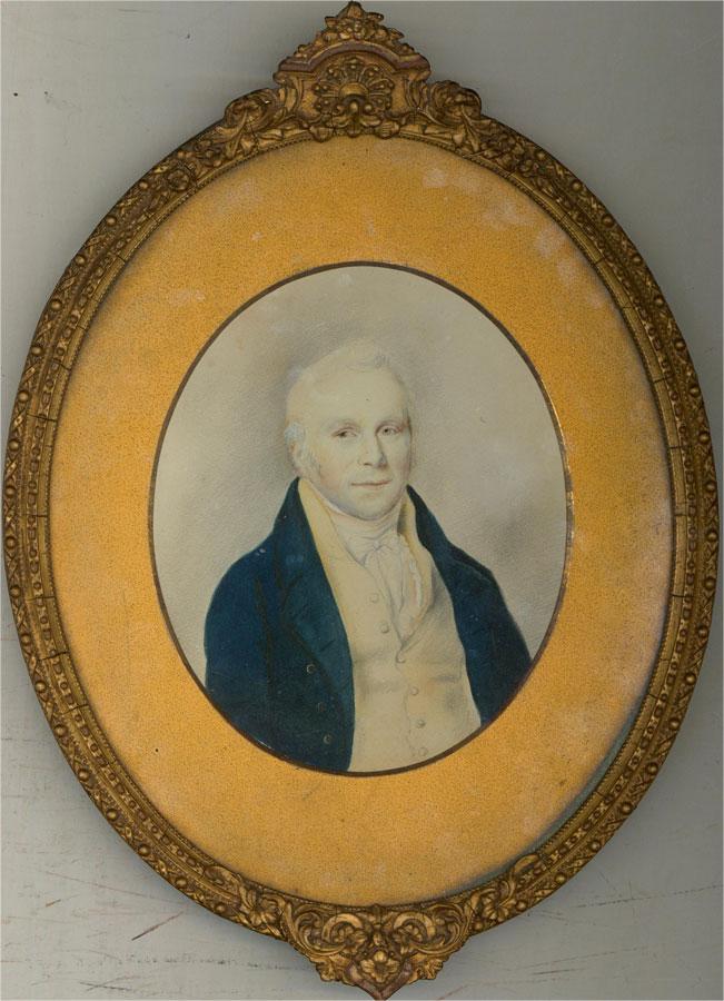 Framed Early 19th Century Watercolour - Georgian Gentleman