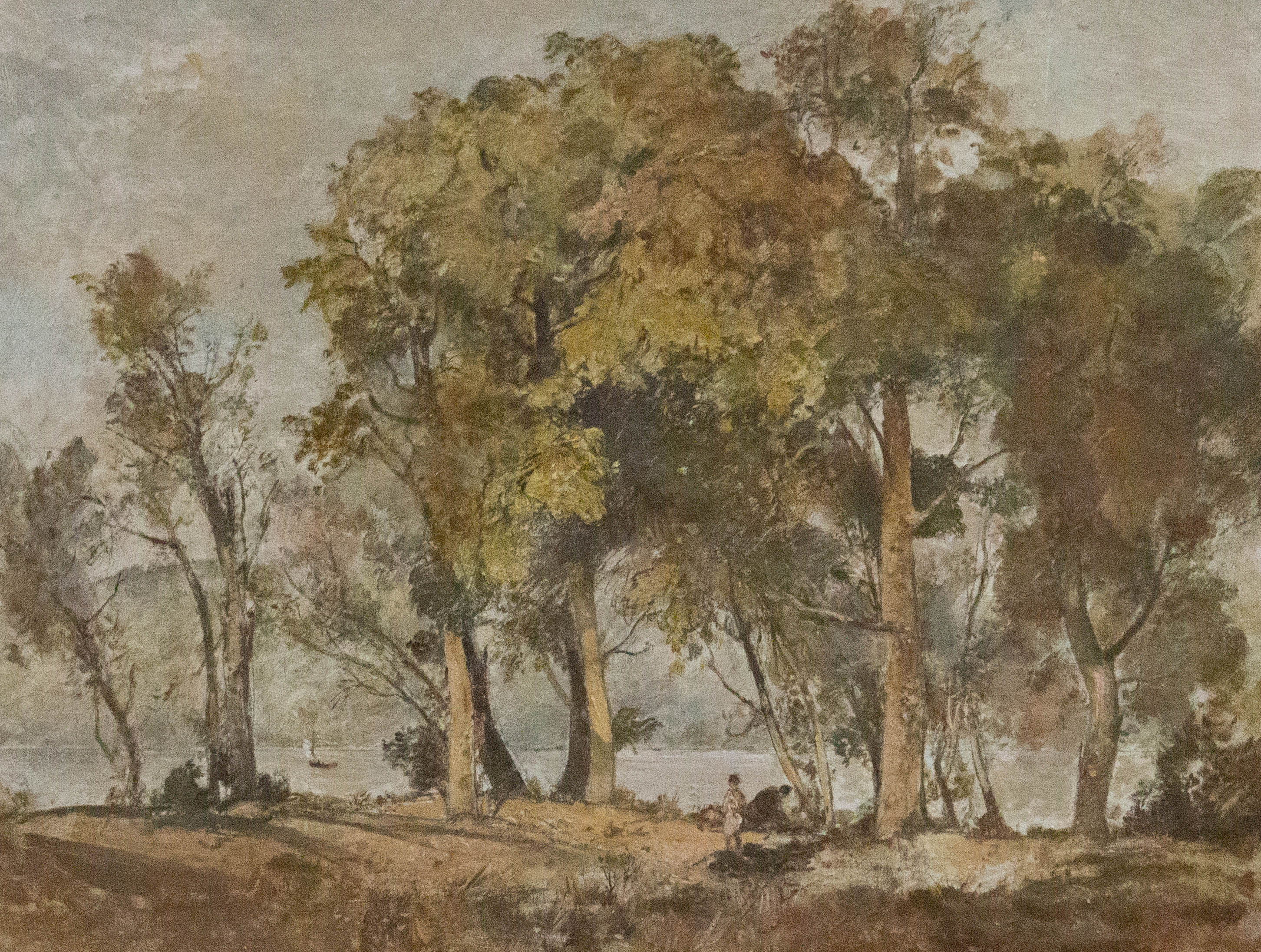 Oliver Hall RA (1869-1957) - Oil, Coniston Lake Seen Through the Trees