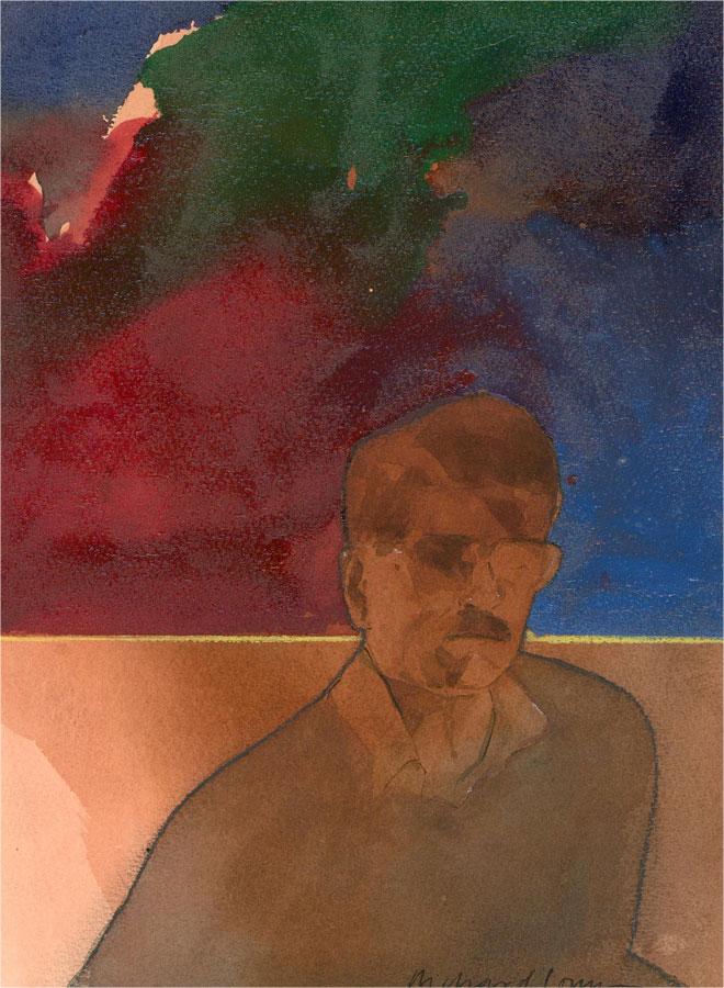 Richard J.S. Young - Contemporary Watercolour, Portrait of a Gentleman