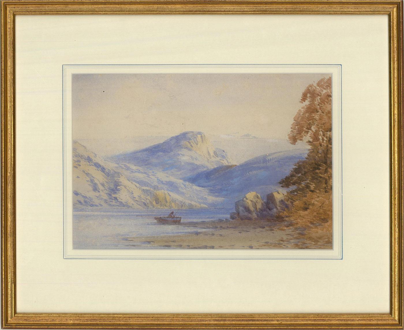 Attrib. Thomas Creswick RA (1811-1869) - Watercolour, The Fisherman
