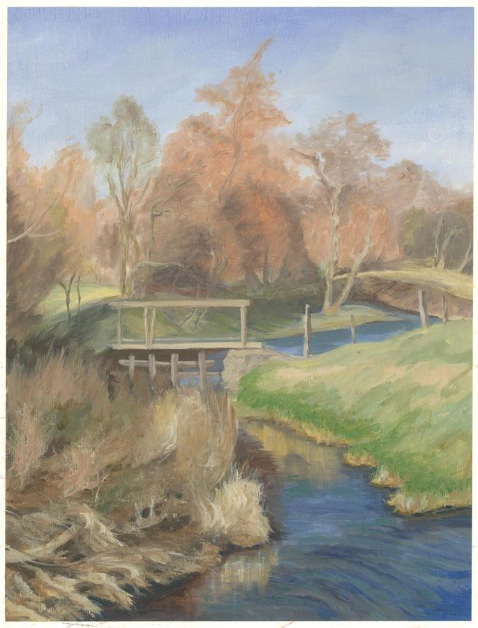 Gwyneth Willitt - Contemporary Oil, Tranquil Countryside