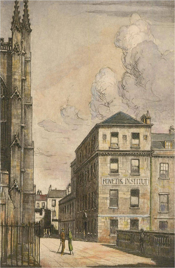 20th Century Etching - Bath Street