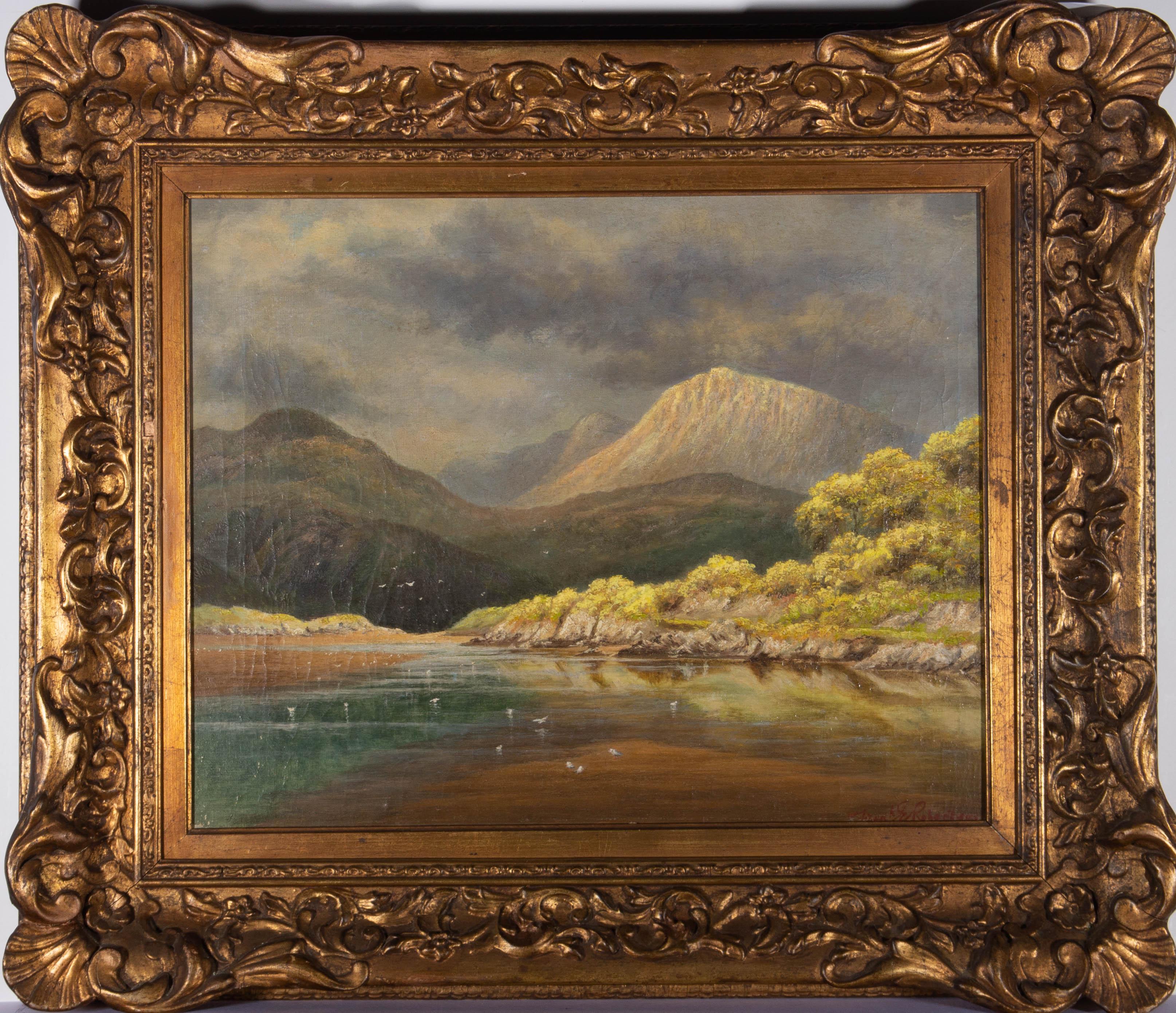Fred E. Robertson (1878-1953) - Early 20th Century Oil, Mountain Lake