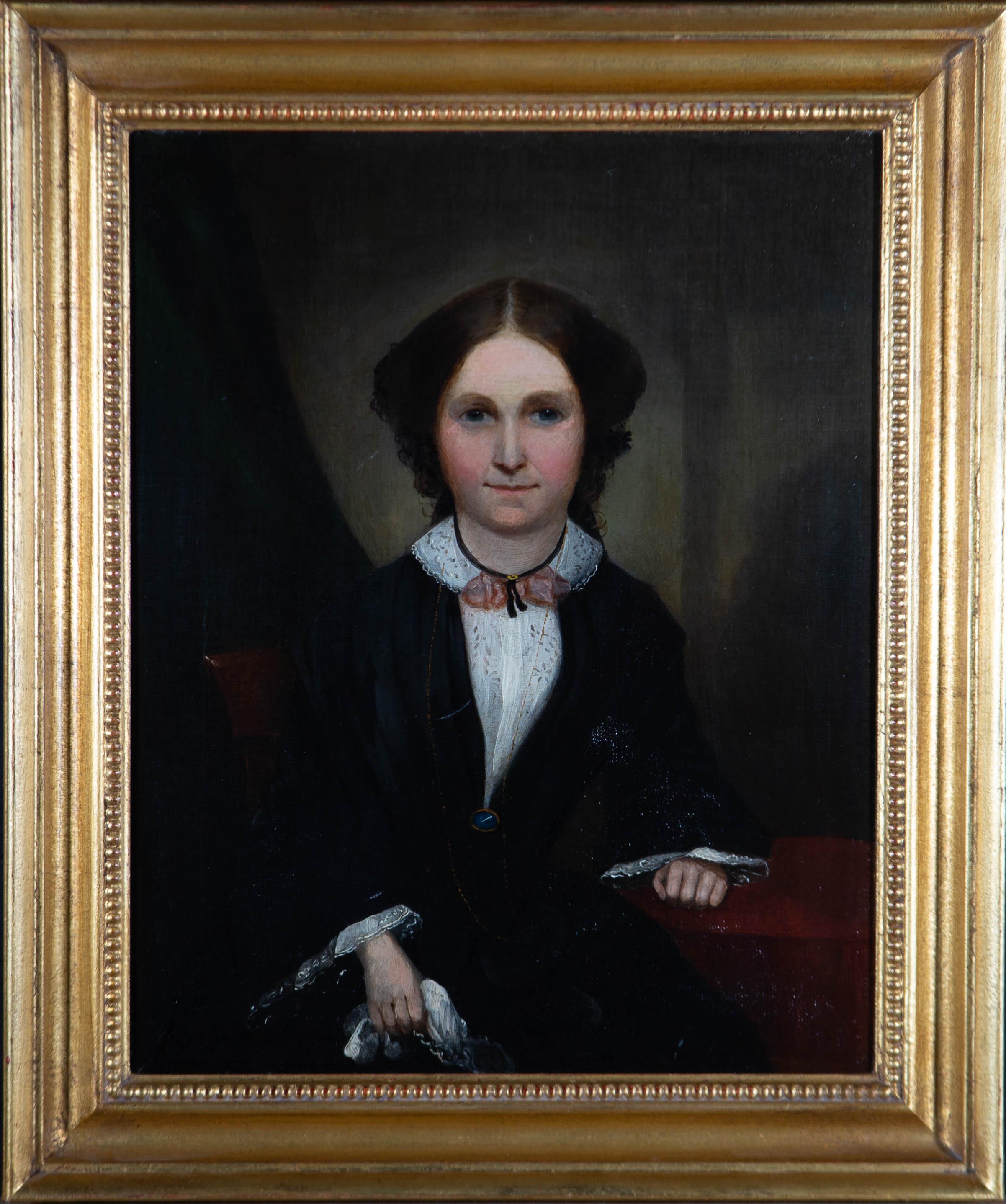 Mid 19th Century Oil - Victorian Woman