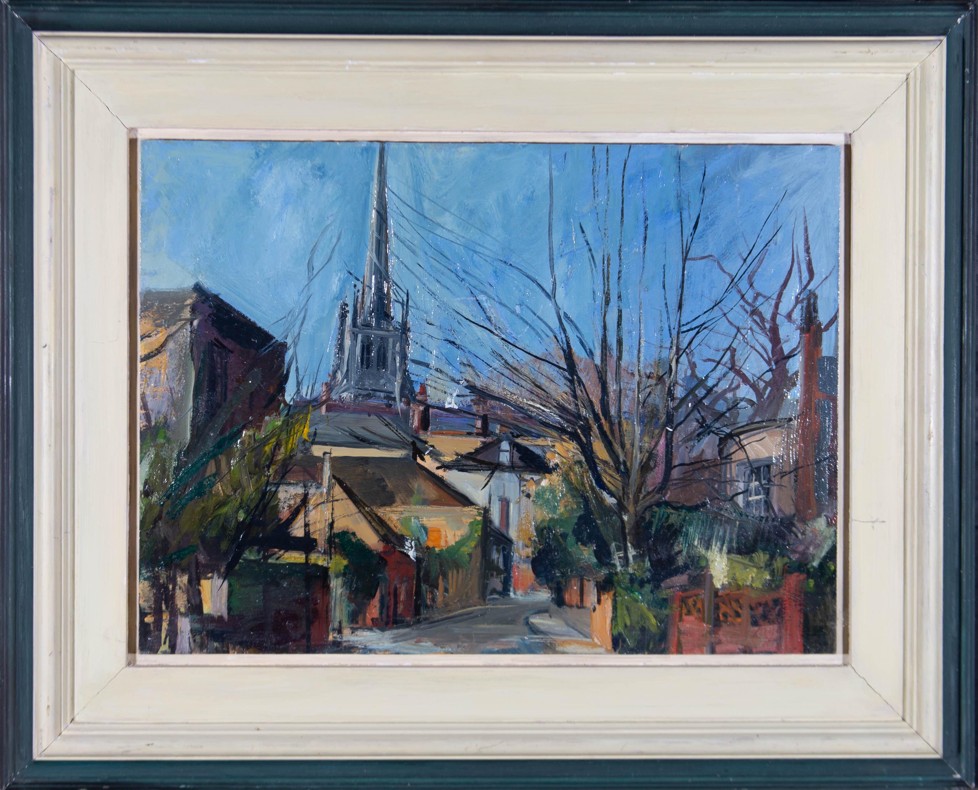 David J. Carr (1944–2009) - 20th Century Oil, Christchurch, Hampstead