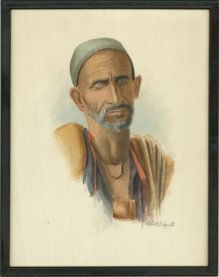 George Russell Copcutt (1882-1948) - Early 20th Century Watercolour, Tibetan Man