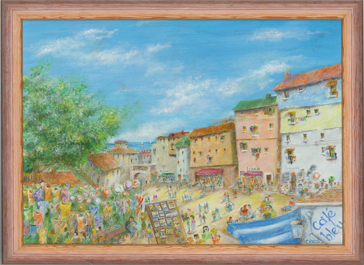 Dudley Michaud - Contemporary Acrylic, Market Day, South of France