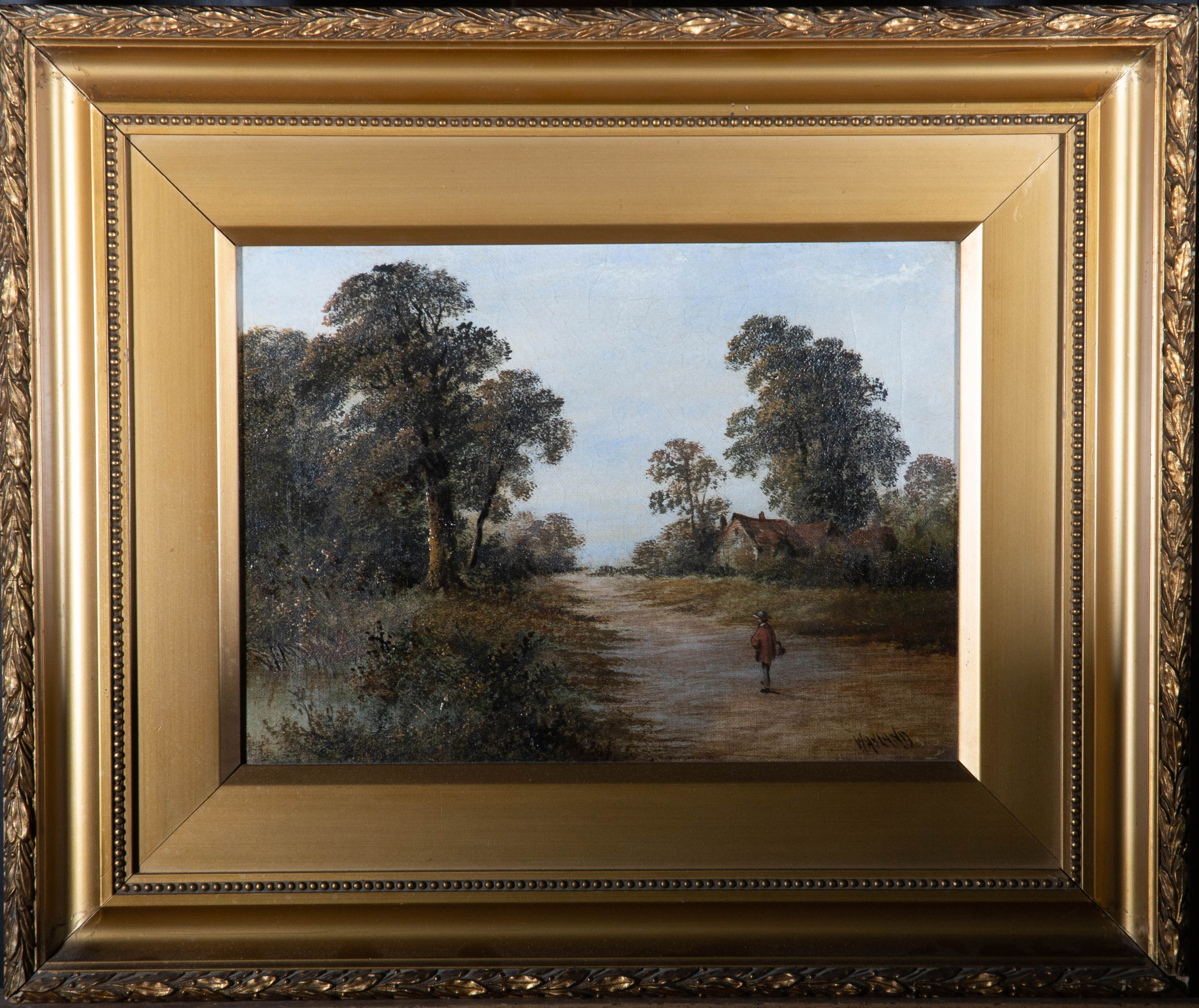 Wayland - Early 20th Century Oil, A Rural Stroll