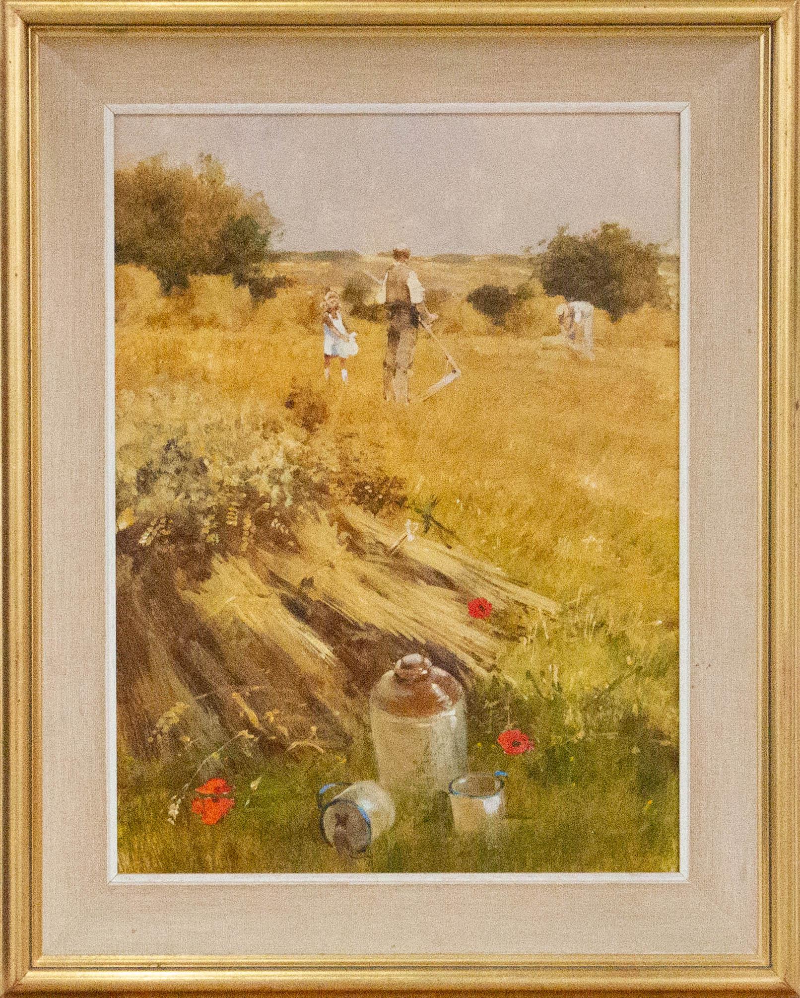 John Haskins (b.1938) - 20th Century Oil, The Lunch Break