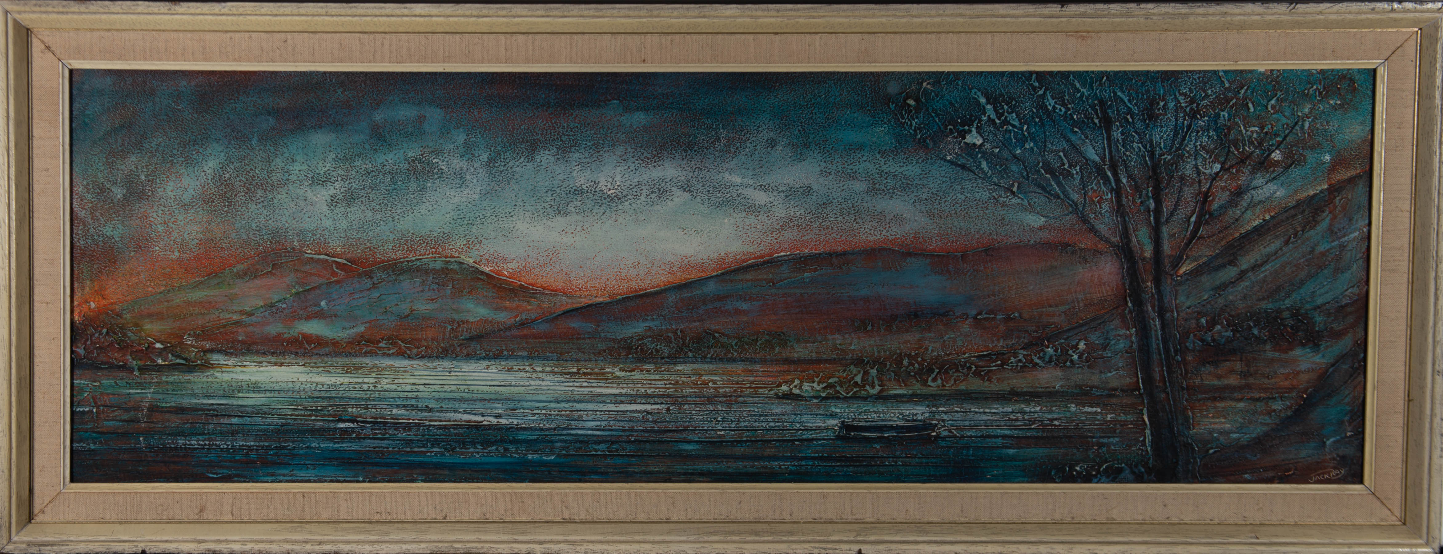 Jack Ray - 20th Century Oil, Landscape in Blue and Red