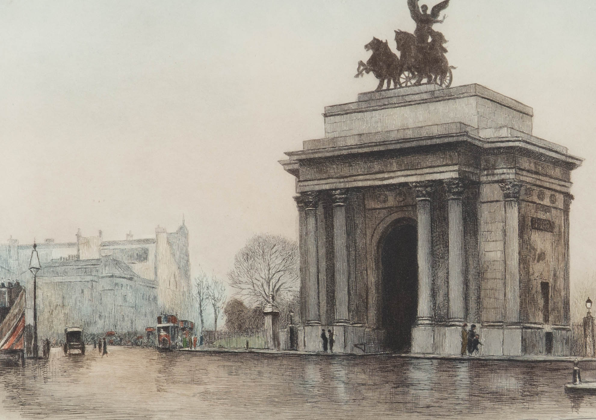 Eugene Tilly (1870-1937) after Edward King - Etching, Constitution Hill, London