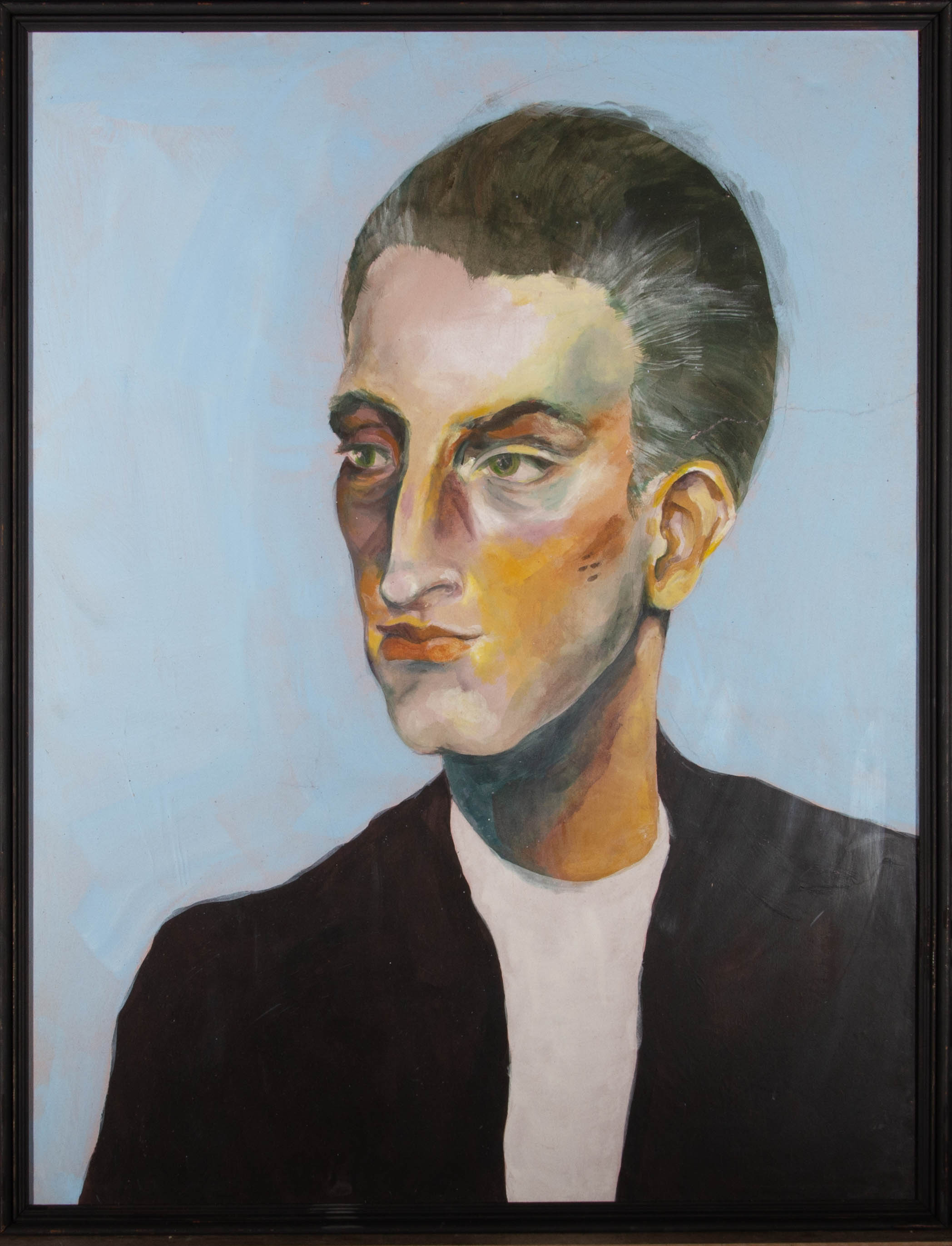 Isabelle Mulvany - Contemporary Gouache, Androgynous Gaze