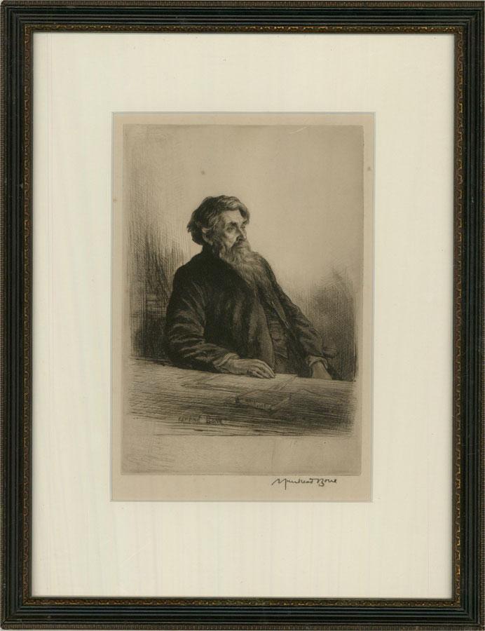 Sir Muirhead Bone (1876-1953) - 1927 Etching, Rev. Dr. Herbert Armitage James