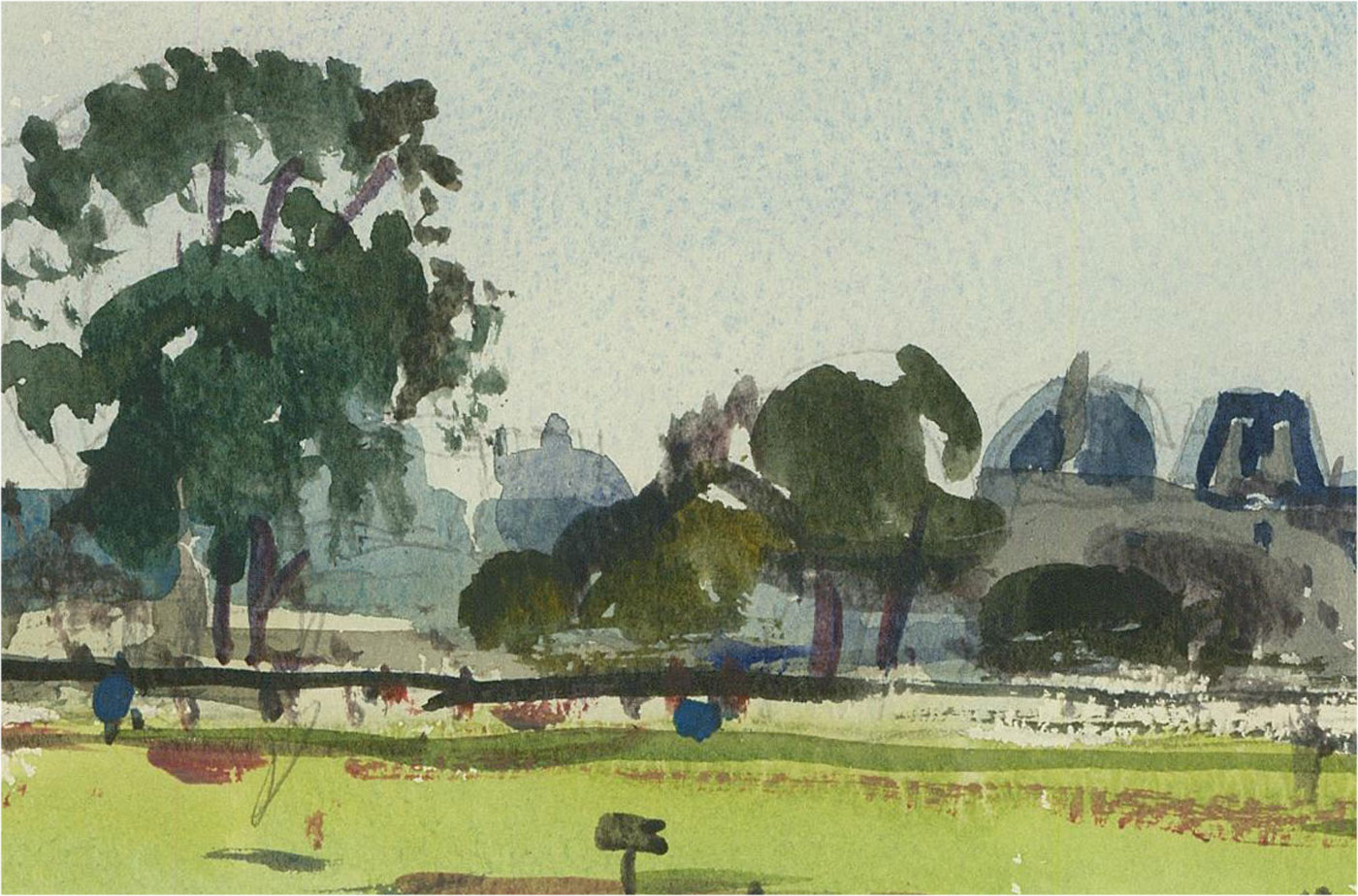 Ronald Olley (b.1923) - A Pair of  20th Century Watercolour, Rural Landscapes