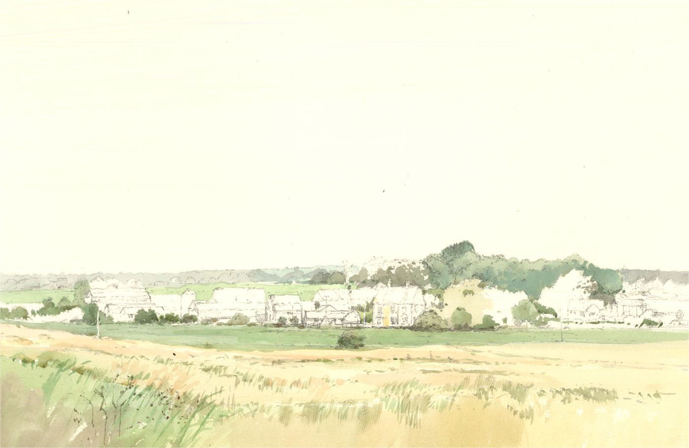 Keith Johnson (1931-2018) - Contemporary Watercolour, Pages Farm, Norfolk